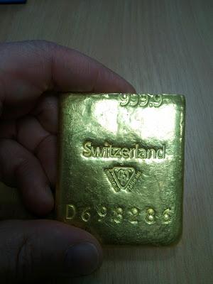 Lingote De Oro Con Relleno De Tungsteno