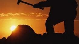 Minero con martillo