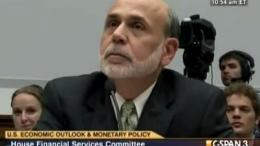 Ben Bernanke declarando ante Ron Paul