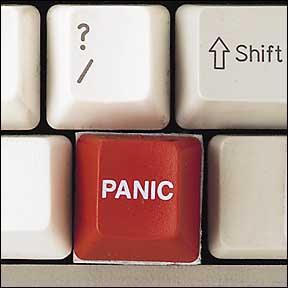 Boton de panico en el teclado