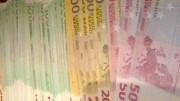 Billetes de 100, 200 y 500 euros