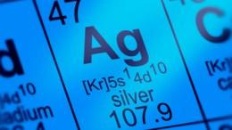 Tabla periódica con AG símbolo plata