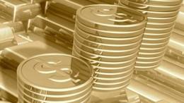Monedas de oro con simbolo de dólar