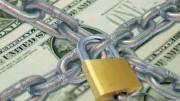 Dólares encadenados con candado