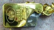 lingote oro falso tungsteno, falsificacion oro