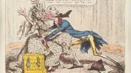 James Gillray caricatura Banco Inglaterra finales del siglo XVIII