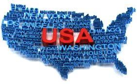 USA EEUU Mapa Estados Unidos