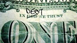 Billete de Dolar con deuda
