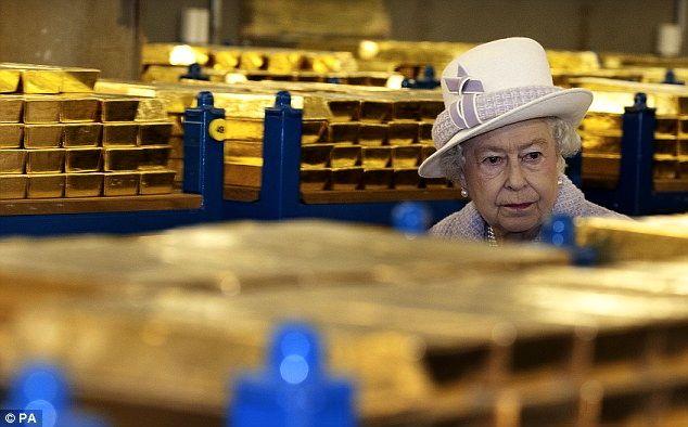 Reservas oro banco de Inglaterra y la Reina Isabel