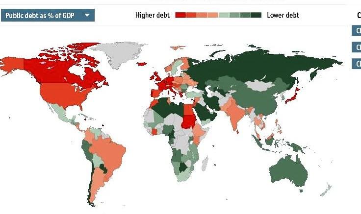 Deuda pública mundial
