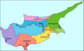 Mapa político de Chipre