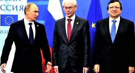 Putin, Herman Van Rompuy, Jose Manuel Durao Barroso
