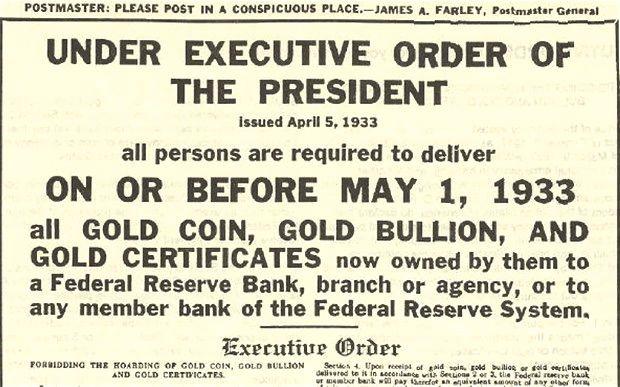 Orden Ejecutiva 6102 sobre la confiscación de oro