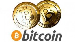 Bitcoin Logo y moneda