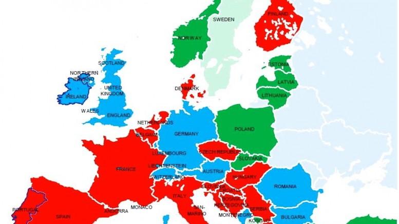 Crecimiento en los países de la Unión Europea