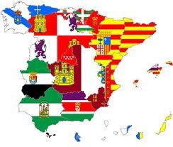 Mapa España com banderas de las CCAA