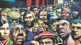 Personas en la calle economistas frente a la crisis