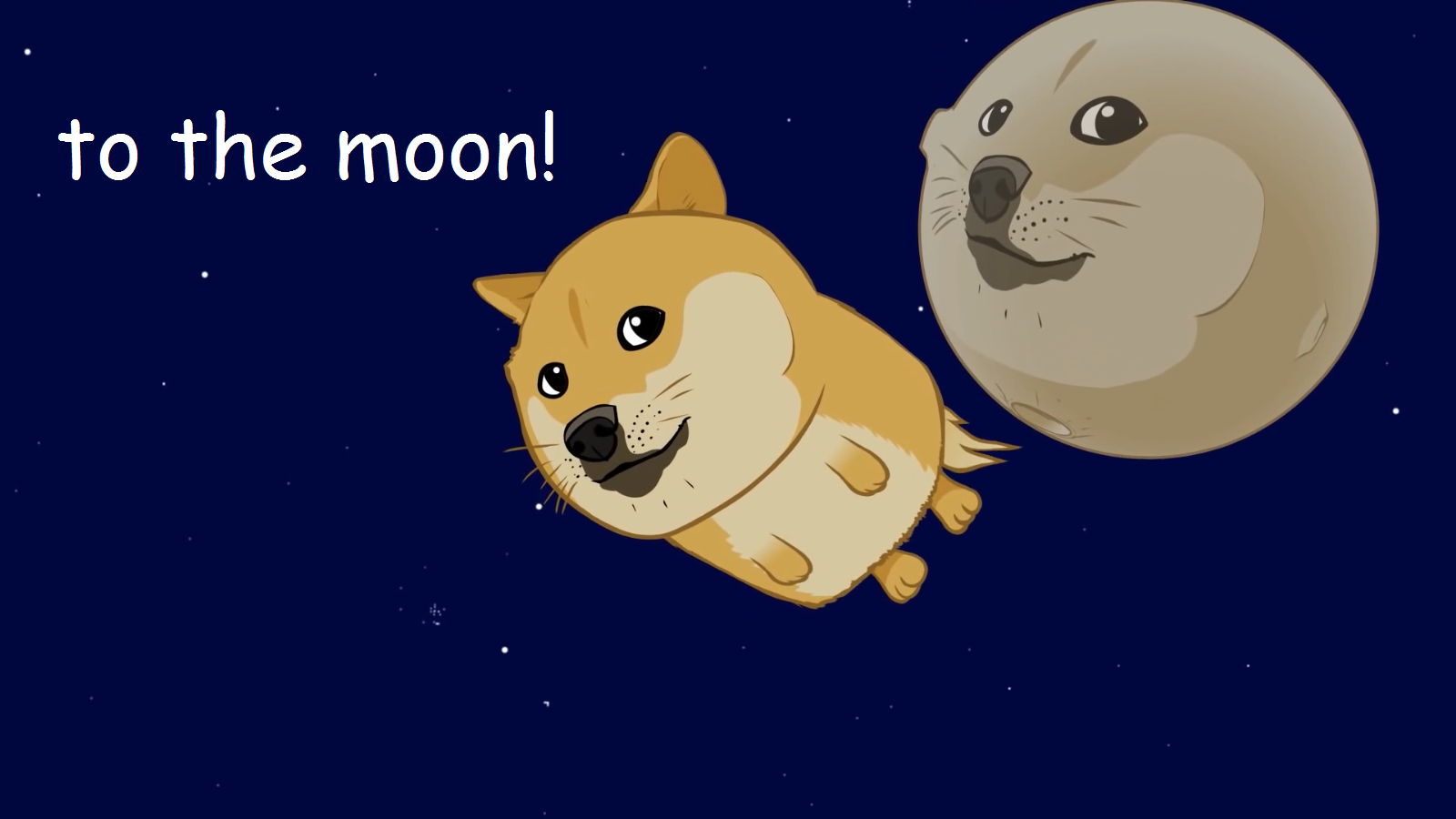 To the Moon Dogecoin A la luna