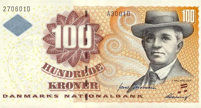 Billete 100 corona danes Dinamarca