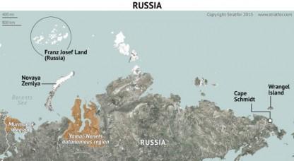 Mapa de Rusia del norte