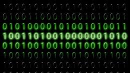 Imagen digital con bits 0 y 1, criptografia, código binario