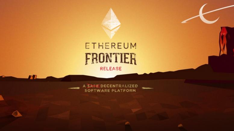 Ethereum web Frontier