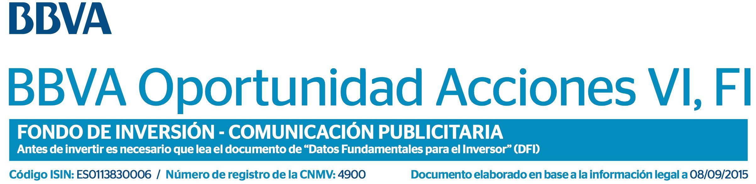 Logo BBVA Oportunidad Acciones VI