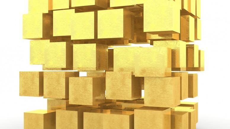 Lingotes de oro cuadrados