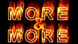 Señal de más en inglés con fuego