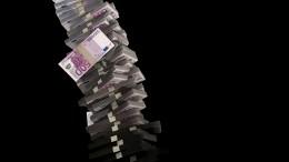 Torre de billetes de 500 euros