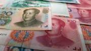 Billetes de yuanes chinos de 100 y 20
