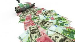 Dolare euros y yuanes en billetes