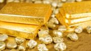 Lingotes de oro y nuggets de oro