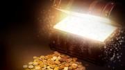 Baul dorado con monedas de oro
