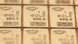 Lingotes de oro de 1 gramo