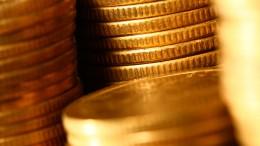 Monedas de oro amontonadas