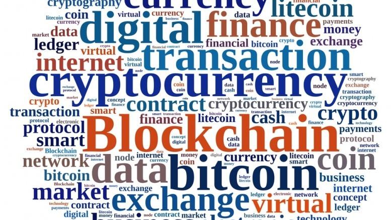 Nube de palabras de Blockchain