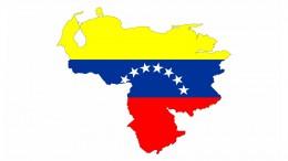 Mapa de Venezuela con bandera