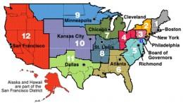 12 bancos regionales de la Reserva Federal de Estados Unidos