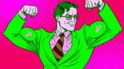 Superman con rublos en musculos