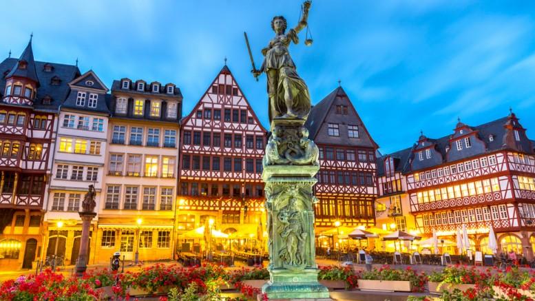 Centro ciudad Frankfurt Alemania