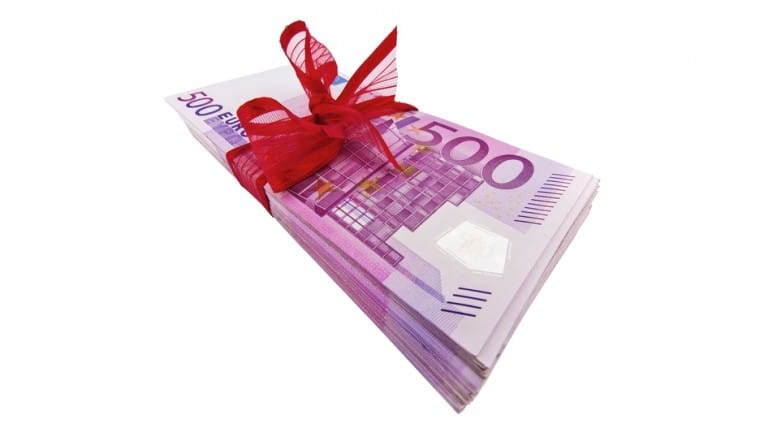 Fajo de billetes de 500 euros