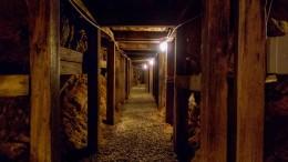 Interior de una mina de plata y oro