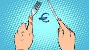 Euro con cuchillo y tenedor