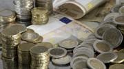 Monedas y billetes de 50 euros
