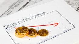 Gold Eagle con grafica del precio del oro