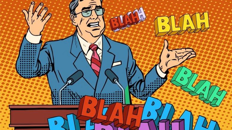 Politico hablando