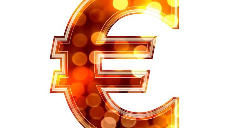 Euro con colores festivos