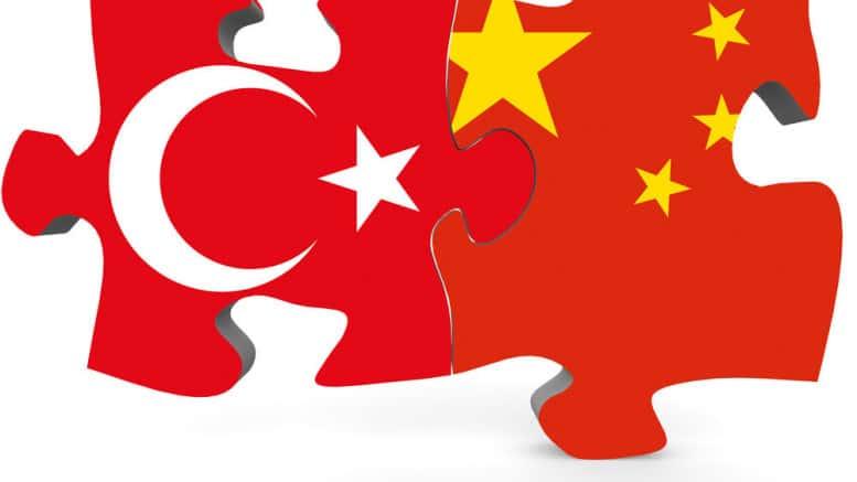 China y Turquia banderas