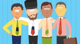 BRICS hombres de negocios